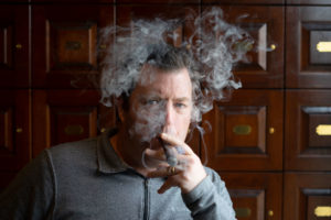 charlie engulfed in smoke