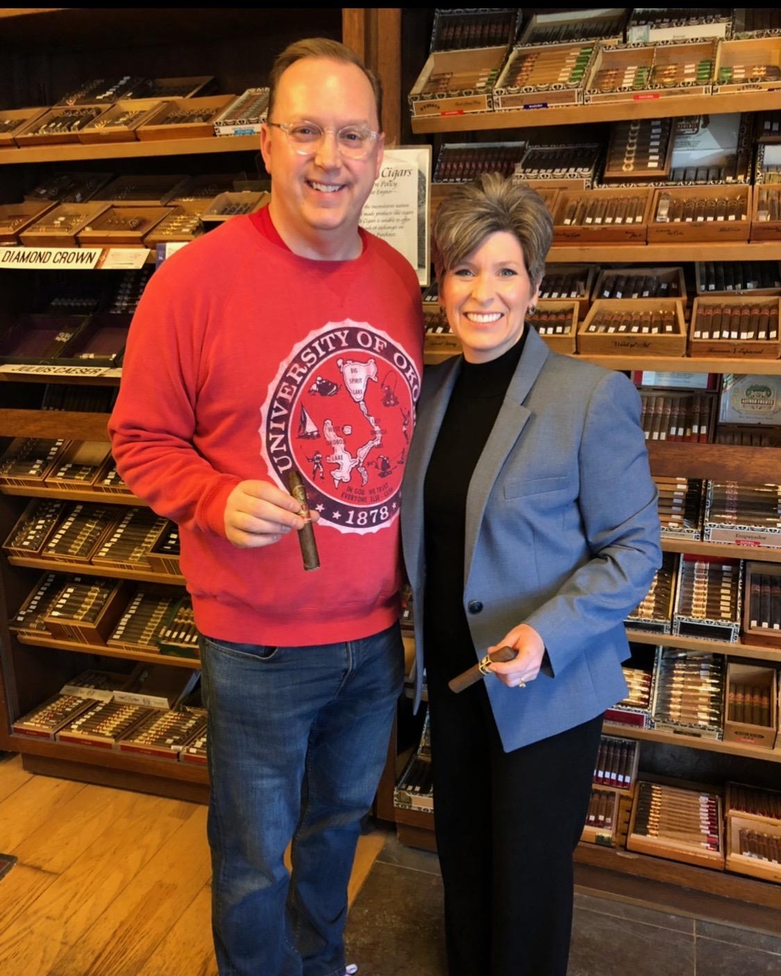 Senator Joni Ernst Visits Iowa Cigar Co.